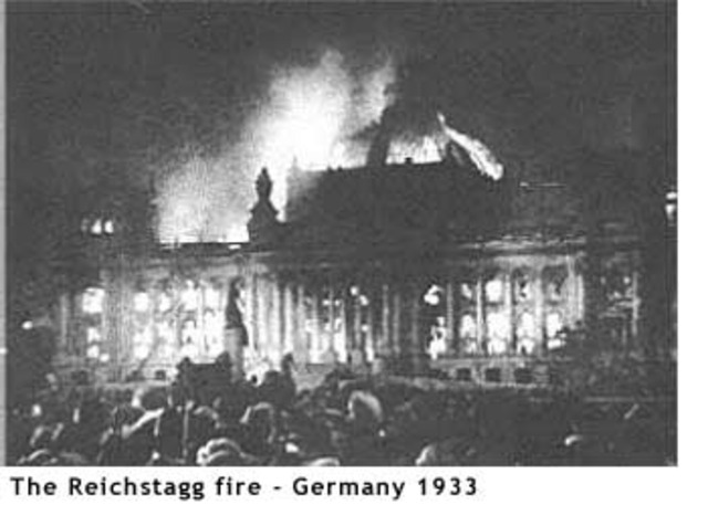 The Reichstag burned