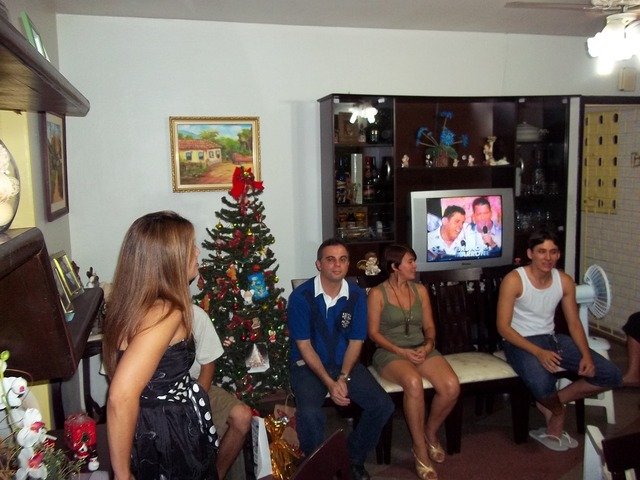 Natal con las duas famílias.