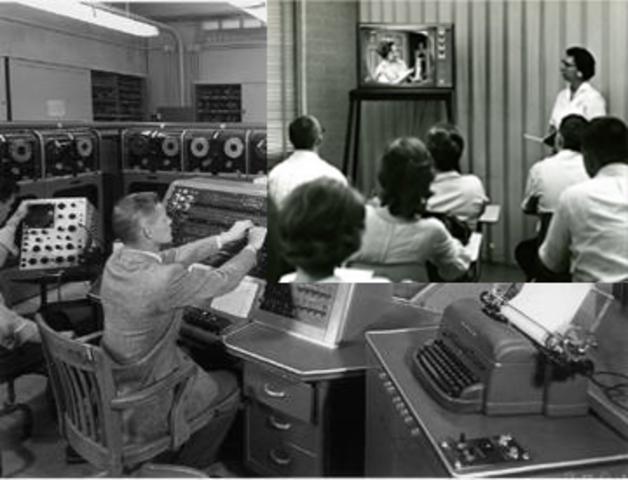 Televisión en el salón de clases.