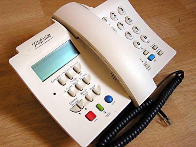 El tercer teléfono que nos envió telefónica fue el domo-manos 2.