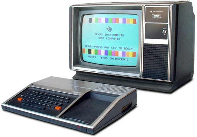 Texas Instrument (TI 99) PC más popular