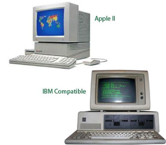 Las computadoras compatibles a IBM y Apple II
