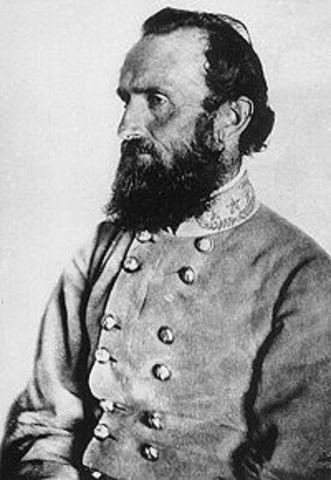 General Stonewall Jackson dies