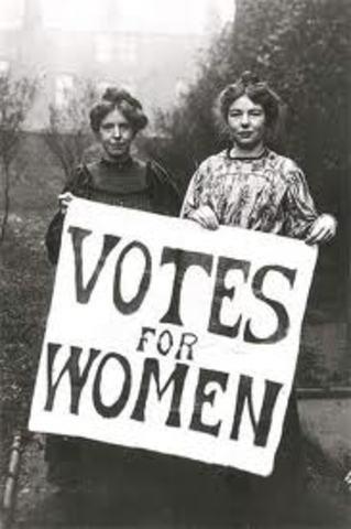 Women first get the vote
