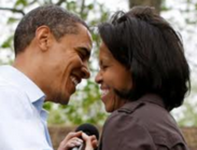 Obama marries.