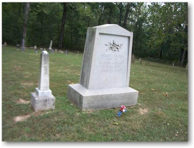 Lincolns sister, Sarah dies in childbirth.