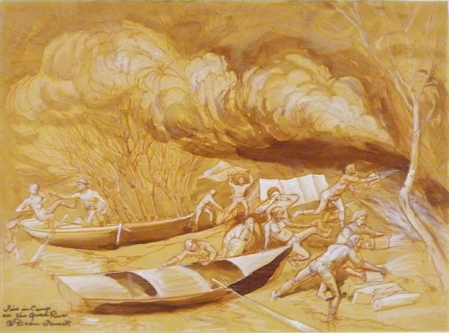 Powell's Fire in the Camp