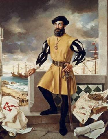 Ferdinand Magellan's Crew Returns from Circumnavigating the Globe
