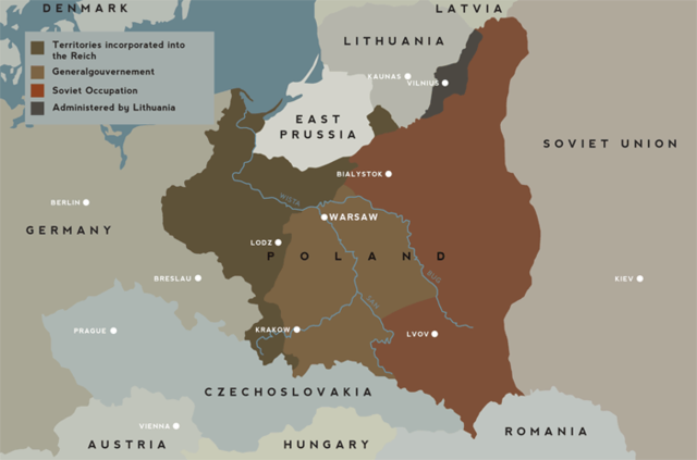 Nazis and Soviets divide up Poland