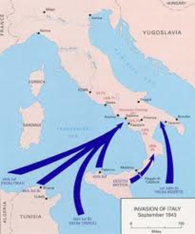 Italy is invaded by the Allies