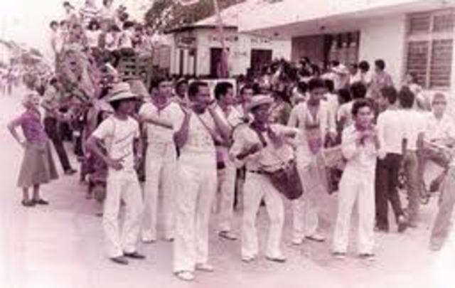 Realizacón del festival de la cumbia