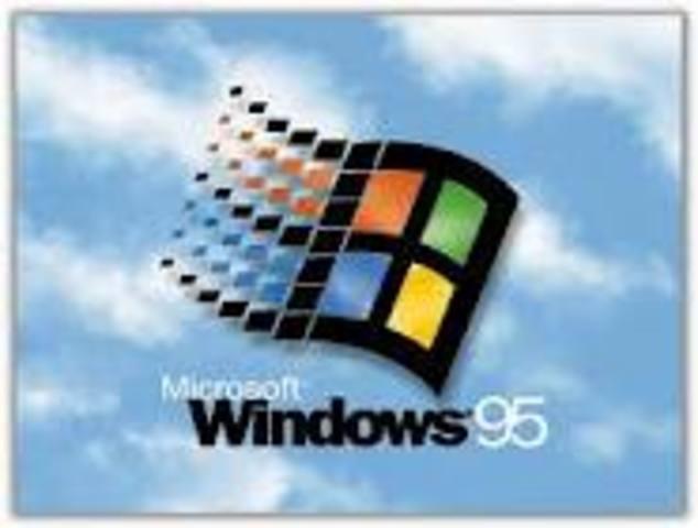 Lanzamiento de Windows 95 por parte de Microsoft