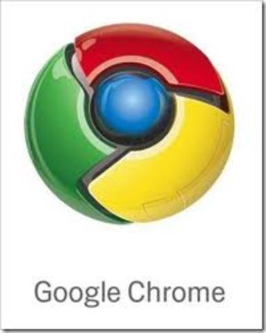 Lanzamiento del navegador Google Chrome.