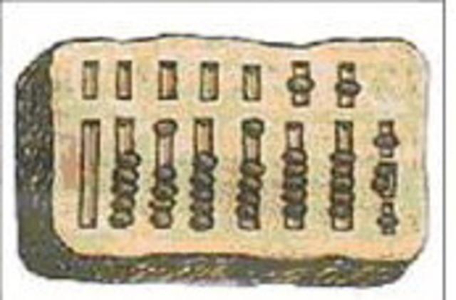 IV до н.э.  Вычислительное устройство абак.