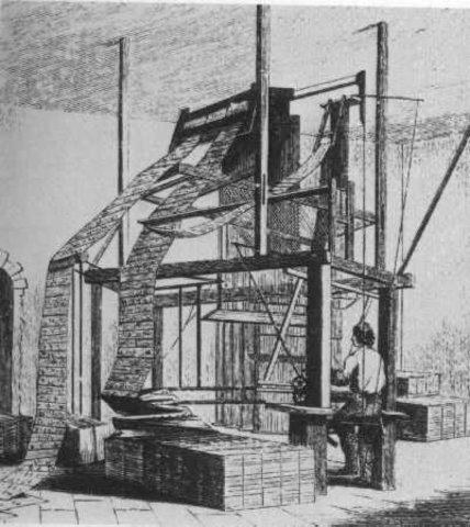 Прядельная машина Жаккарда. 1801 год.