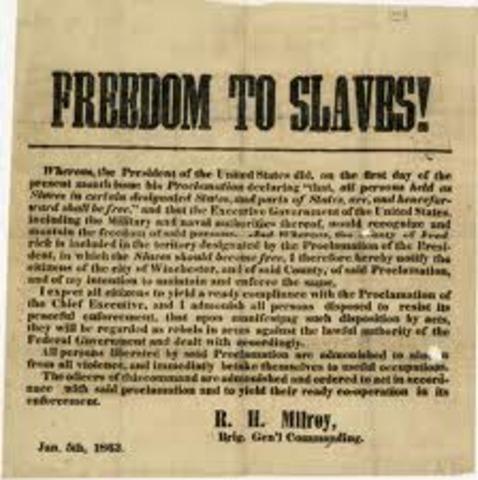 Emancipation Proclamation Announced