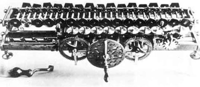 Механический калькулятор Лейбница.Устройство для обработки числовой информации.