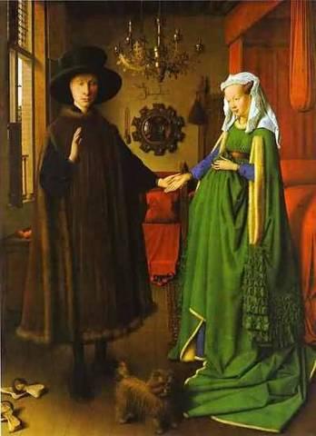 Jan van Eyck: Portrait of Giovanni Arnolfini and his Wife