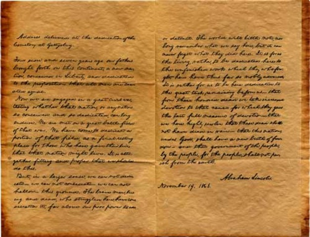 Lincoln Delivers the Gettysburg Address