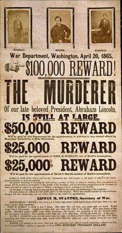 John Wilkes Booth is killed.