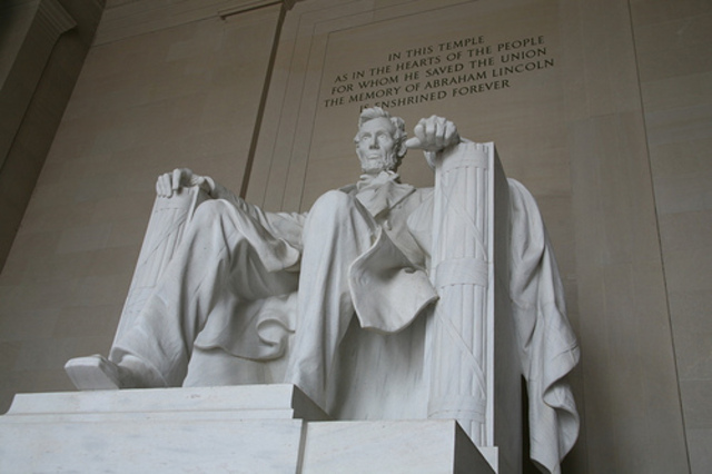 Lincoln is buried.
