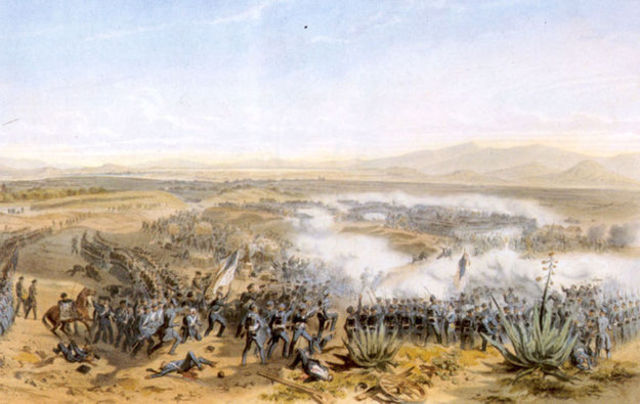 Lee fights in Battle of Contreras