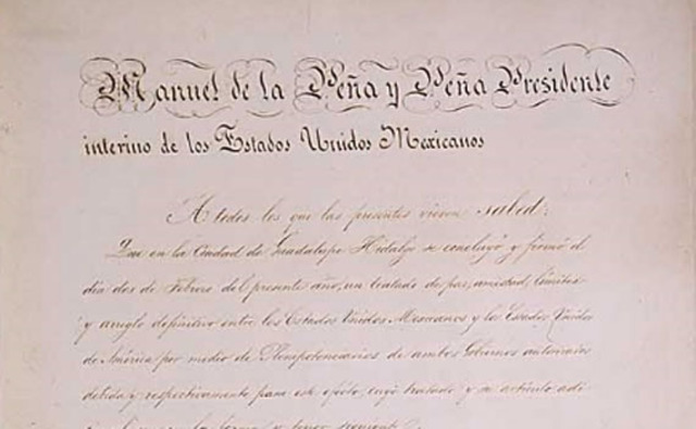 Treaty of Guadalupe HIdalgo is signed