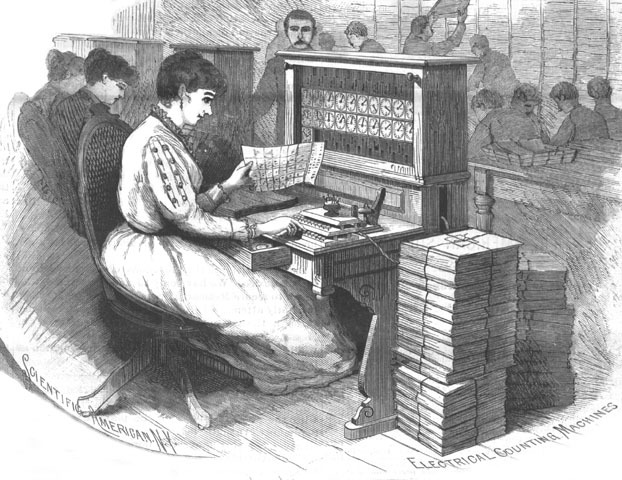 Punch cards used in 1890 Census