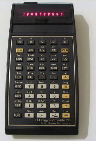 """Texas Instruments introduces the first """"pocket calculator"""