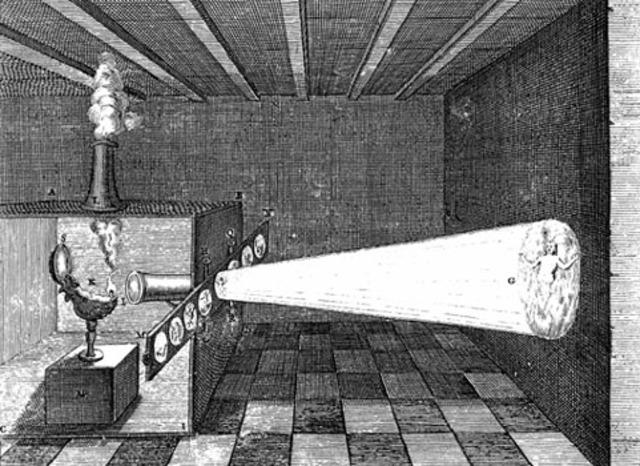 Invención de la linterna mágica