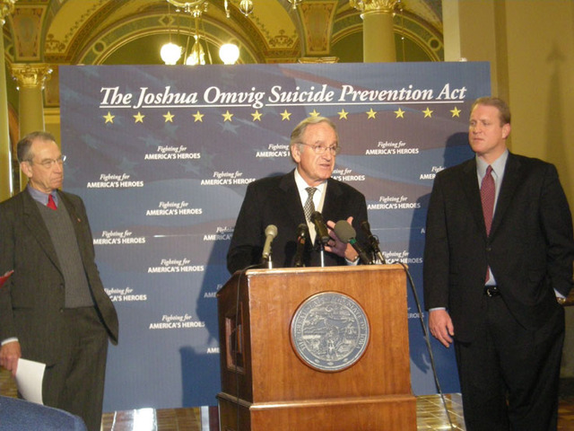 Joshua Omvig Veterans Suicide Prevention Act passed