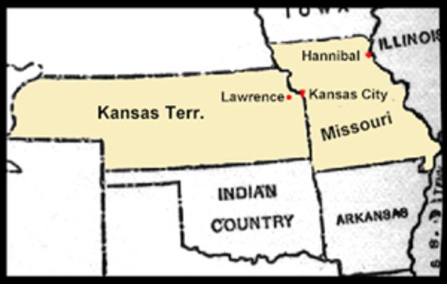 Border Ruffians Attack Lawrence