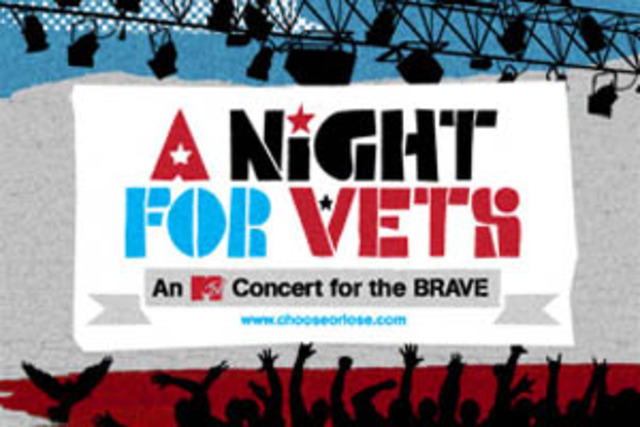 """""""A Night for Vets: An MTV Concert for the BRAVE (Bill of Rights for American Veterans)"""