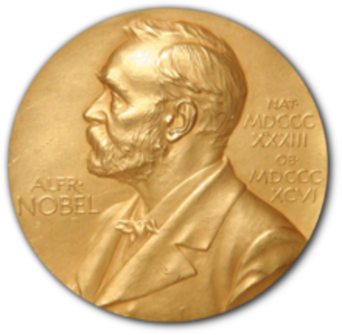 Marie Curie is awarded half a Nobel Prize for physics.