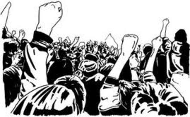 Obreros y estudiantes unidos en la movilización