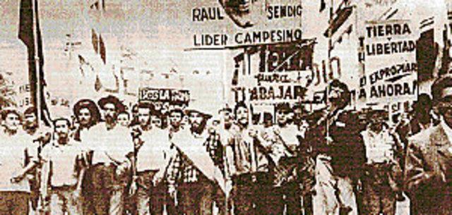 Primera marcha cañera con Sendic como lider