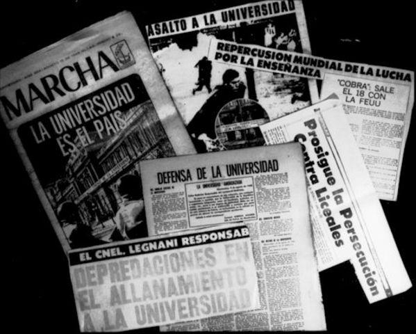 Allanamiento policial sin orden judicial, de locales universitarios en relación alsecuestro de Pereira Reverbel. Reacción de condena de las autoridades universitarias ymanifestaciones de protesta de los estudiantes.