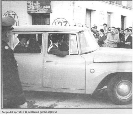 El MLN-T controla la ciudad de Pando durante media hora; de la operaciónr esultan cuatro muertos y dieciséis heridos.