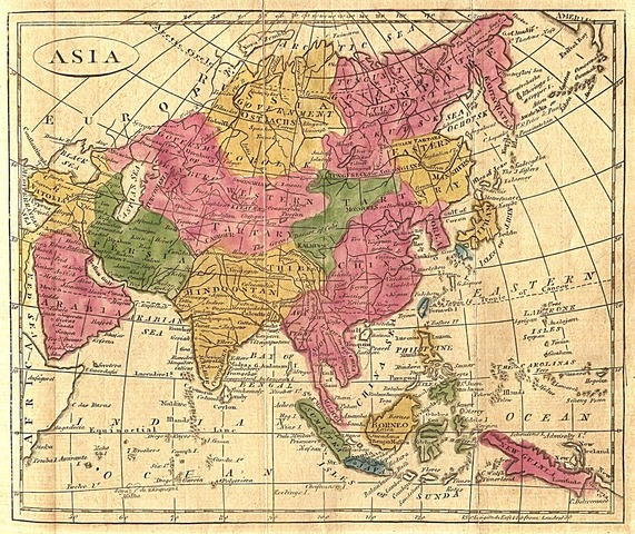 Map of Asia from 1808