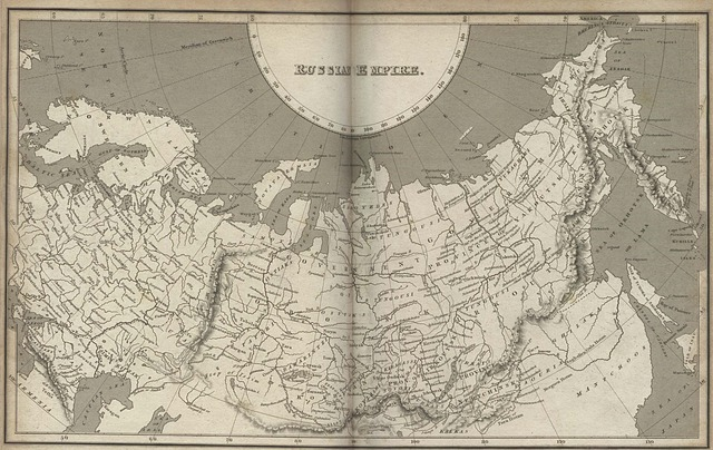 Map of Russian Empire in 1820