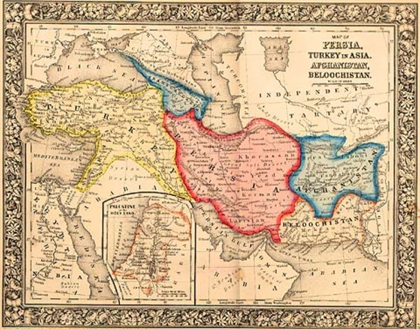 Map of Central Asia, 1860