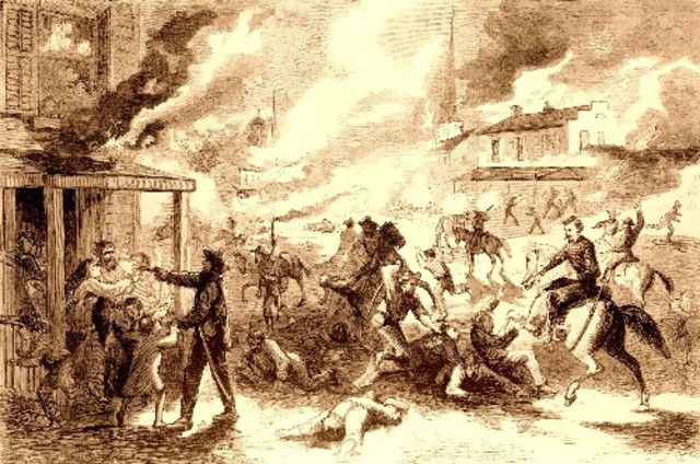 """Border Ruffians "" attack Lawrence"