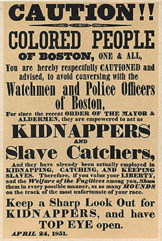 Fugitive Slave Law Act Furthur Augments Slavery In America.