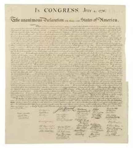 Passing The Declaration Of Independence