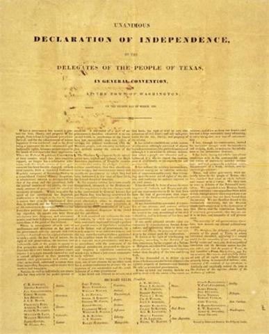 Texas declares independancy