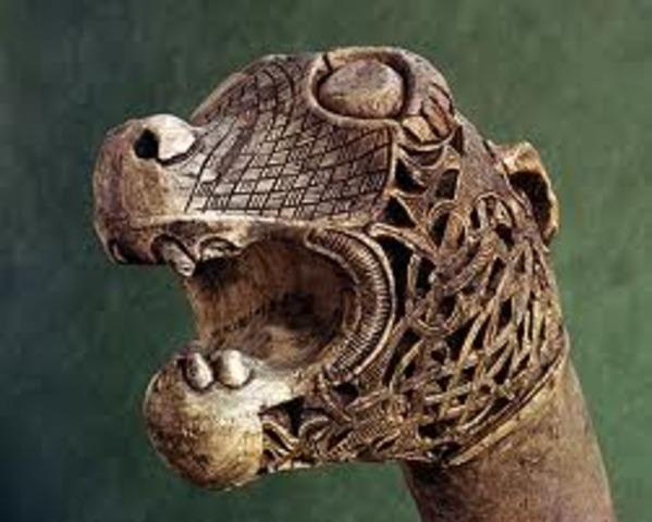 Animal Head Post from Oseberg Ship Burial