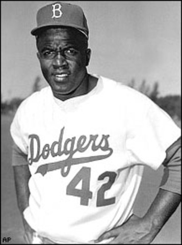The first African American in Major league  Baseball