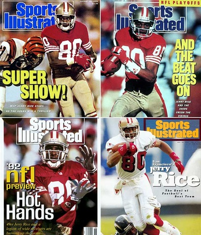 Jerry Rice the legendary Wide-Reciever starting off