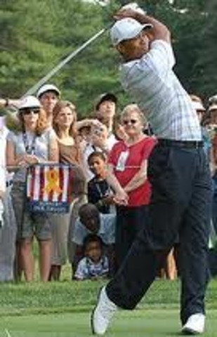 Tiger Woods starting off