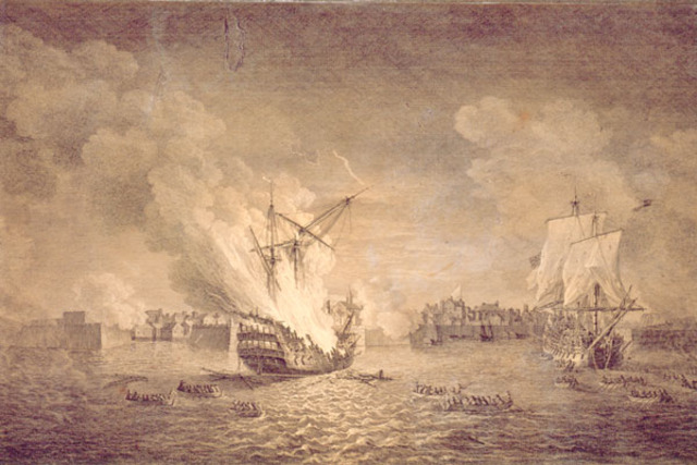 The siege of Lousibourg